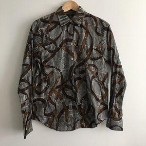 NWOT Lauren Ralph Lauren chain print shirt top